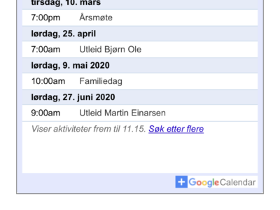 Google kalenderen